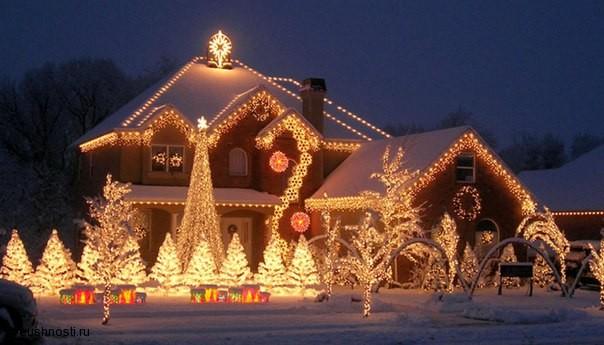 Украшаем дом на новый год (2)