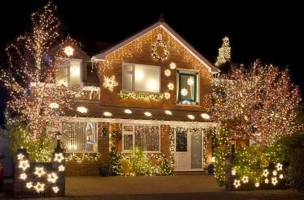 Украшаем дом на новый год (3)