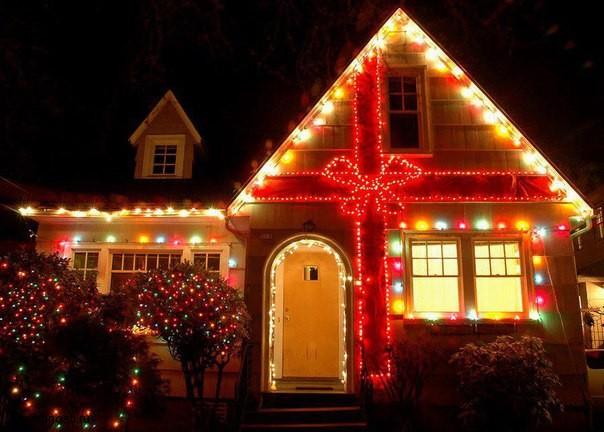 Украшаем дом на новый год (4)